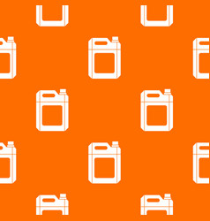 Plastic jerry can pattern seamless vector