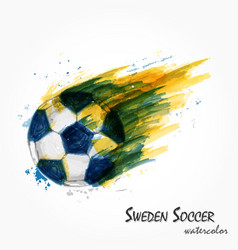 Realistic watercolor painting of powerful sweden vector