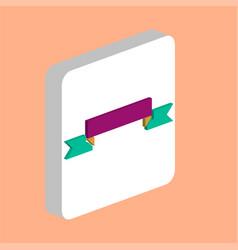 ribbon computer symbol vector image