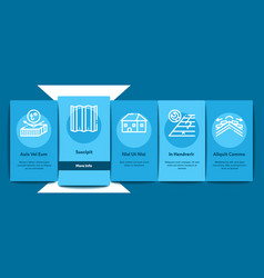 Rohousetop material onboarding elements icons vector