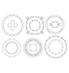 round frames - set of vintage elements vector image