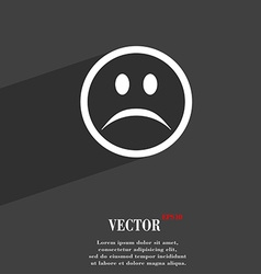 Sad face Sadness depression icon symbol Flat vector image