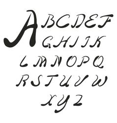 Set handwriting author english font vector