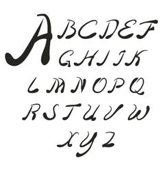 Set handwriting author of the English font vector