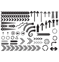 Set of black arrows on white background vector
