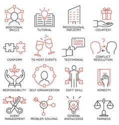 Set of icons related to business management -28 vector image