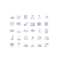 set simple icons television vector image