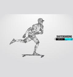 Skateboarding abstract silhouette skateboarder vector