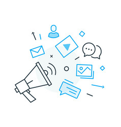Social media post virtual communication vector