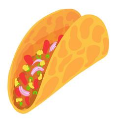 Taco icon cartoon style vector
