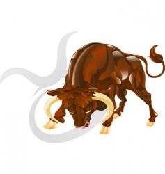 Taurus the bull star sign vector