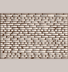 Texture of ivory old brick wall vector