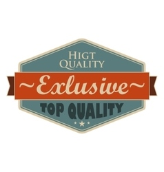 Top quality blue vintage banner vector