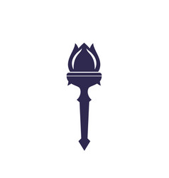 Torch with flame logo vector