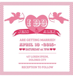 Wedding Angel Invitation Card vector image