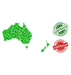 welcome composition of map of australia and new vector image