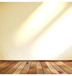 Empty beige wall and wooden floor room EPS 10 vector image vector image
