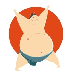 Fat Sumo fighter vector image