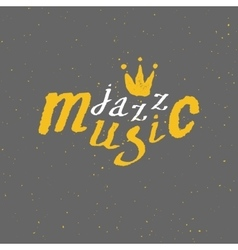Jazz - live music Lettering vector image vector image