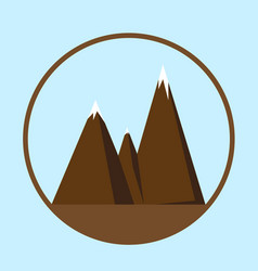 mountain icon or logotype vector image
