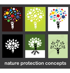 nature protection concepts vector image