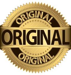 Original Label vector image vector image