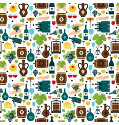Wine seamless pattern vector image vector image