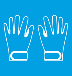 winter gloves icon white vector image vector image