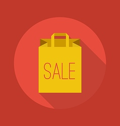 Business Flat Icon Shopping Bag vector image vector image