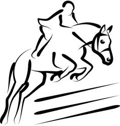 equestrian sport vector image