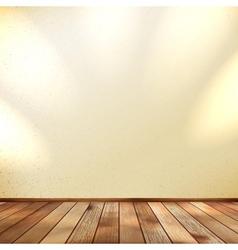 Light wooden interior EPS 10 vector image vector image