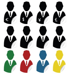 people icon sticker vector image