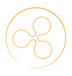 Ripple currency logo vector