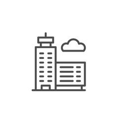 skyscraper line icon vector image