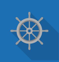 metal ship wheel icon vector image