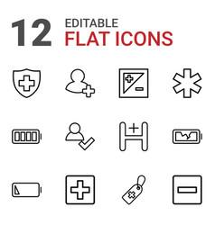 12 plus icons vector