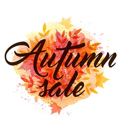 Abstract autumn background with falling leaves vector