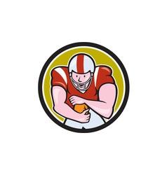 American Football Running Back Circle Cartoon vector