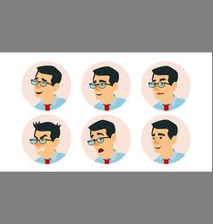 asian character business people avatar vector image