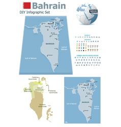 Bahrain maps with markers vector image vector image