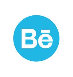 Behance icon design vector
