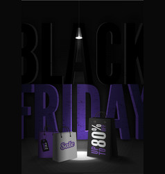 Black friday sale 80 percent discount poster vector