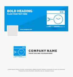 Blue business logo template for admin command vector