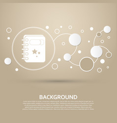 Book icon on a brown background with elegant vector