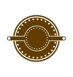 Brown stamp abstract art deco emblem vector
