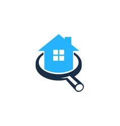 Browse house logo icon design vector