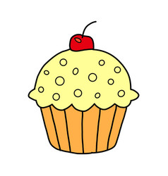 cake icon on white background cake icon in modern vector image