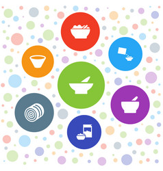 cereal icons vector image
