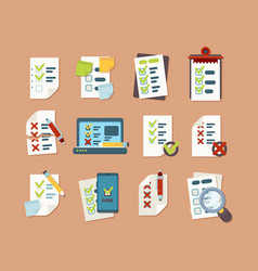 checklist collection business text lists vector image