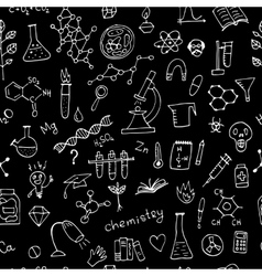 Chemistry background seamless pattern for your vector